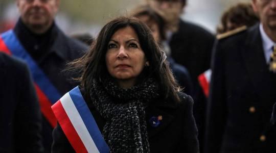 A prefeita de Paris, Anne Hidalgo