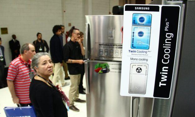 Samsung lança refrigeradores inteligentes na Eletrolar Show