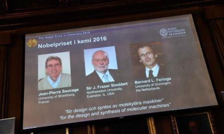 """Nobel de Química premia trio de """"máquinas moleculares"""""""