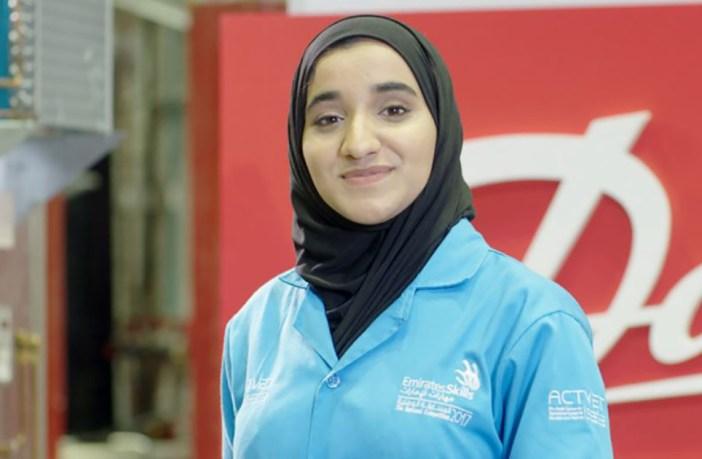 Roudha Bin Bahr, estudande de engenharia química patrocinada pela Danfoss na WorldSkills 2017