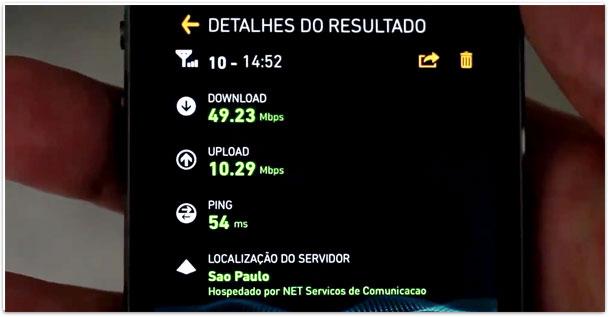 Velocidade 4G