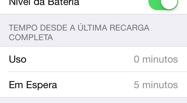 Teste de Bateria