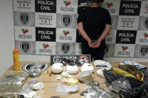 PRODUÇÃO DE DROGA – Polícia realiza prisão e apreensões e desarticula esquema semi-industrial na Capital
