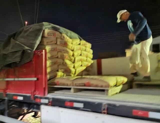 20 toneladas de cimento são apreendidas na BR 230 em situação irregular