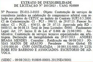 Barroso licitação