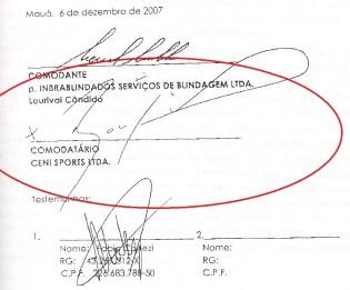 ceni assina contrato comodato