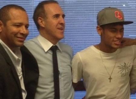 neymar, pai, e wagner ribeiro