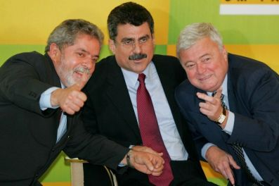 Lula, Romero Jucá e Ricardo Teixiera
