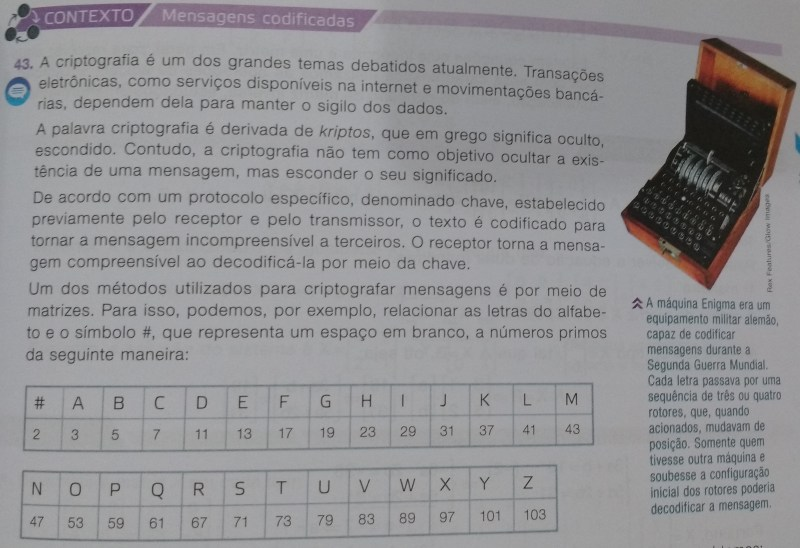 Souza, Joamir Roberto de. Novo olhar matemática: 2. 2. ed. – São Paulo: FTD, 2013.