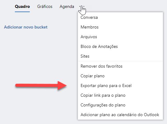 Planner - Exportar para Excel