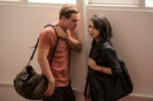 """Dacre Montgomery as """"Jason"""" and Naomi Scott as """"Kimberly"""" in SABAN'S POWER RANGERS. Photo by Kimberly French."""