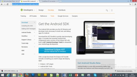 1 - Fazendo o download do Android Developer Tools