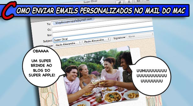 Como enviar emails personalizados no Mail do Mac
