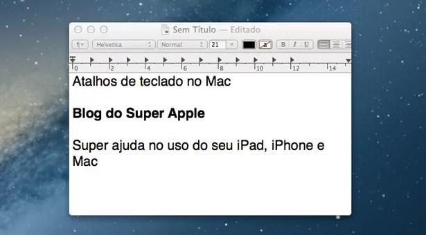 6 atalhos de teclado no Mac