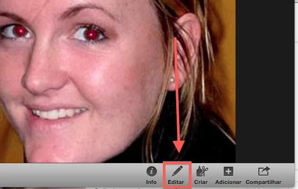 Como corrigir fotos com olhos vermelhos no iPhoto