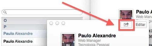 Como enviar e compartilhar contatos utilizando o Mac