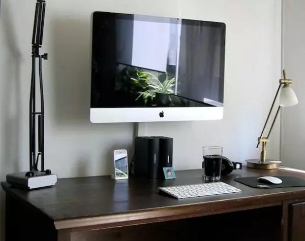Como colocar um iMac na parede