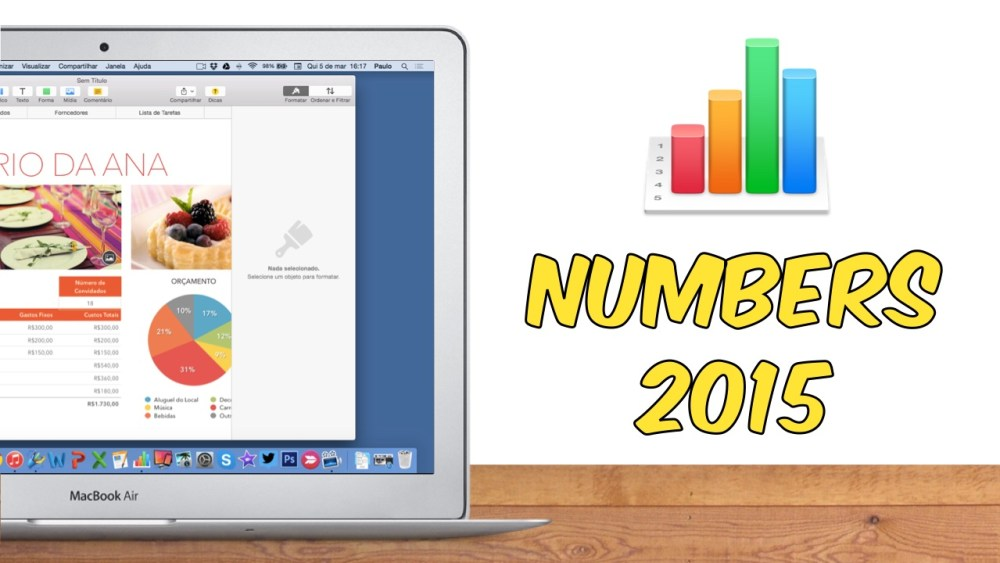 Como utilizar o Numbers do Mac - Video completo
