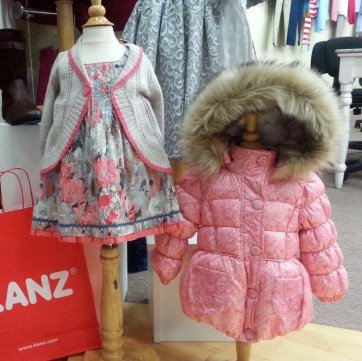 Kanz dress and coat at Seasonal Concepts showroom, Atlanta Apparel