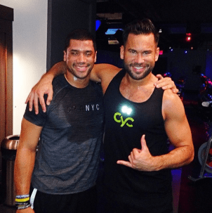 Russell Wilson, Seahawks QB, Keoni Hudoba, Cyc Fitness, NYC Spinning, New York Spinning, Indoor Cycling