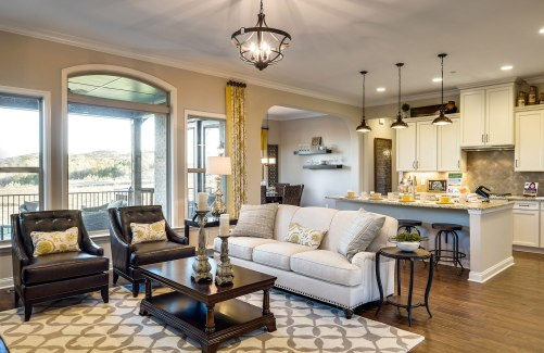 Celestial Kitchen, Family Room, and Dining Area