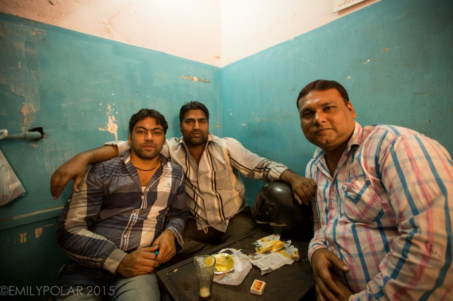 Cute little chai shop on the streets of Old Delhi, India.