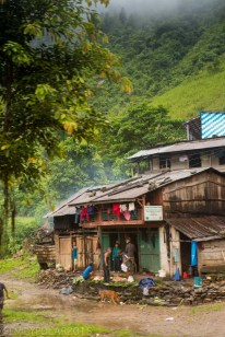 Rustic home in the countryside of rural Nepal.