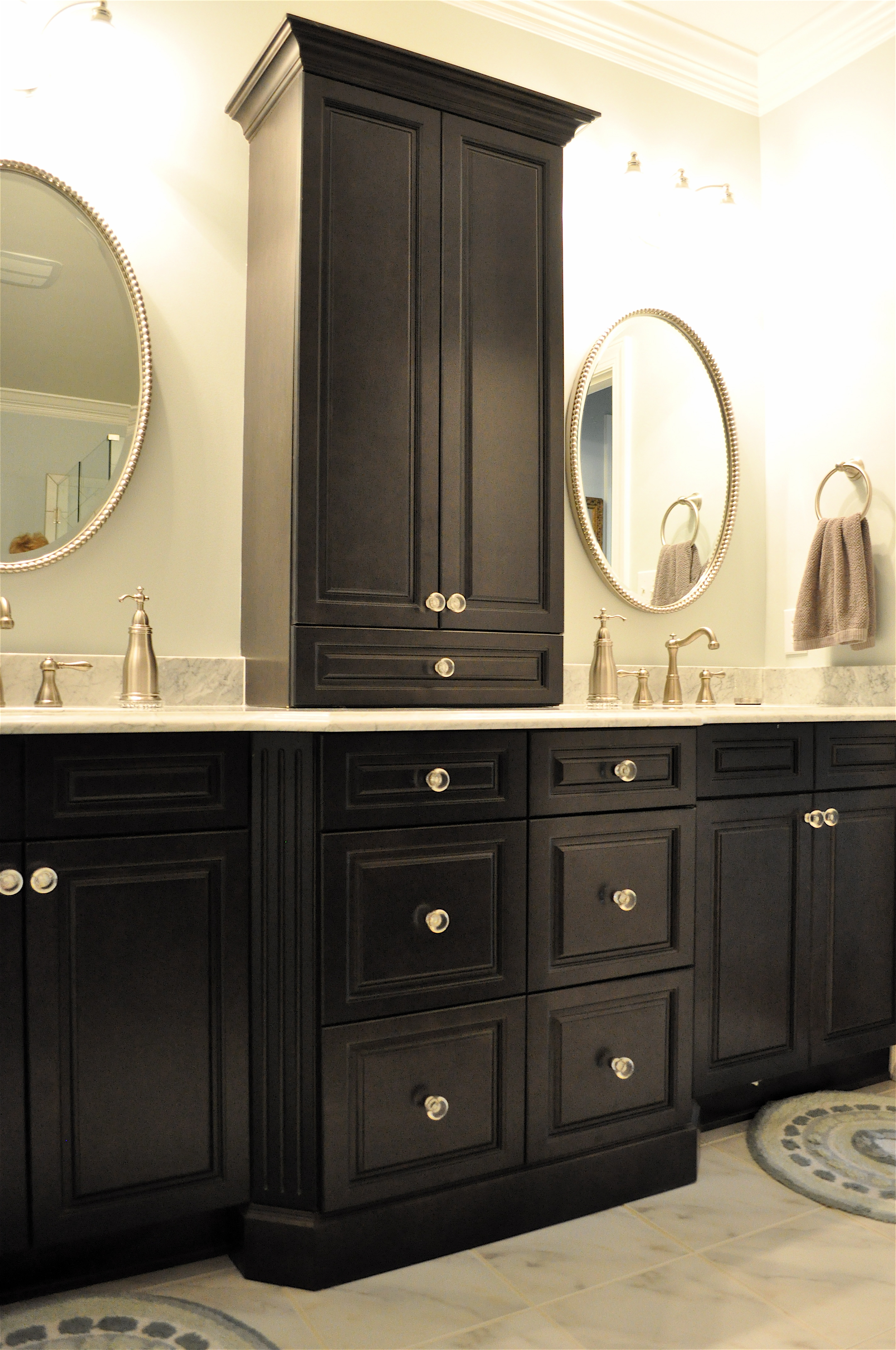 Bathroom Countertop Storage Cabinets With Luxury