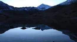 Llyn Llydaw at foot of Snowdon