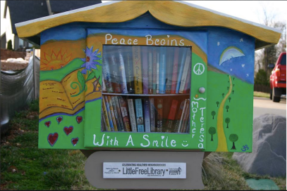 Lisa Ford (Chattanooga, TN) - Neighborhood Lending LibraryLisa Ford opened a free, mini library in the Brock Pointe neighborhood outside of Chattanooga, TN. She provides free books, CDs, and DVDs to her neighbors and surrounding community while promoting lifelong reading to all who visit.