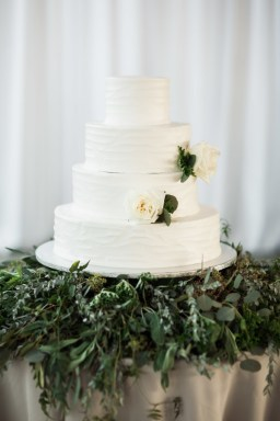 Greenery used with Cake