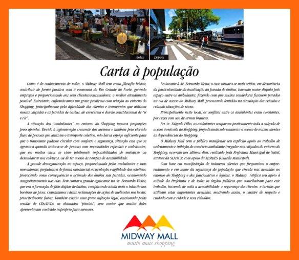 carta a população MIDWAY