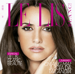 Capa da Revista Le Lis com Penélope Cruz