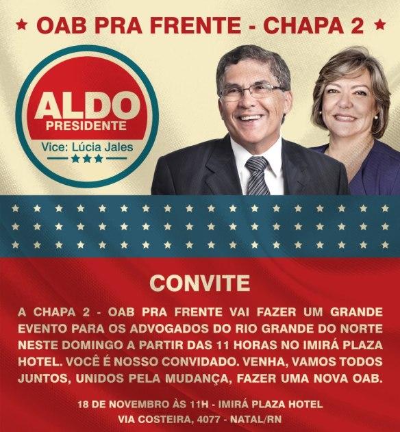 Aldo Medeiros e Lúcia Jales concorren à OAB