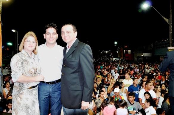 Família Jácome na comemoração pela eleição de Jacó