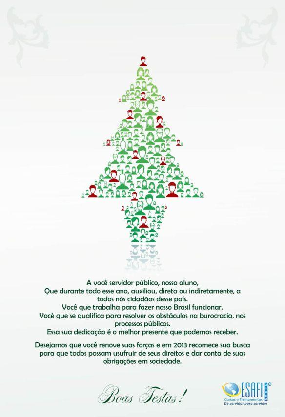 Cartão de Boas Festas da ESAFI