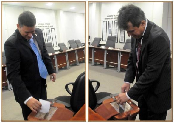 Oscar Hugo e Rinaldo Reis votaram na eleição do MP