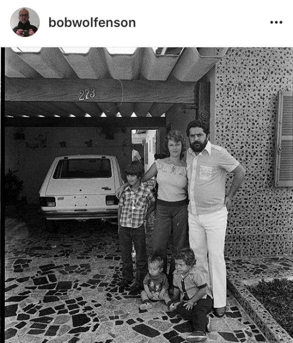 Foto da família Lula em 1978.