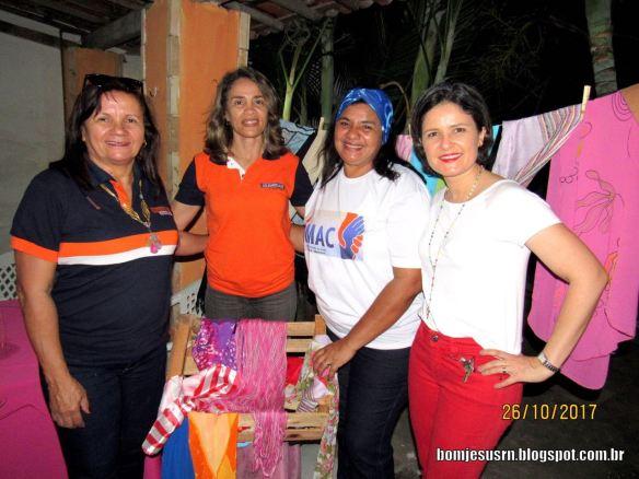 Leia, Magnólia, Beta e Luciana em foto do Blog BomJesusRN.