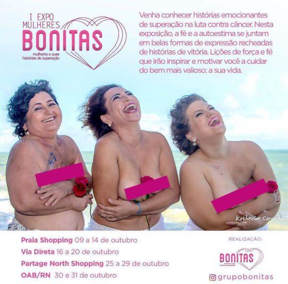 Exposição Mulheres Bonitas começa hoje no Praia Shopping