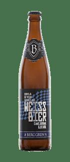 Berggren Weissbier Elaborada com cereais maltados de trigo, a Berggren Weissbier é uma cerveja que não recebe filtragem durante a fabricação. Por isso, possui aparência turva e apresenta um típico aroma de banana e cravo.