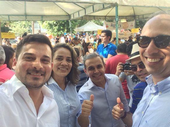 Arthur, Magnólia, Breno e Fernando Bezerra