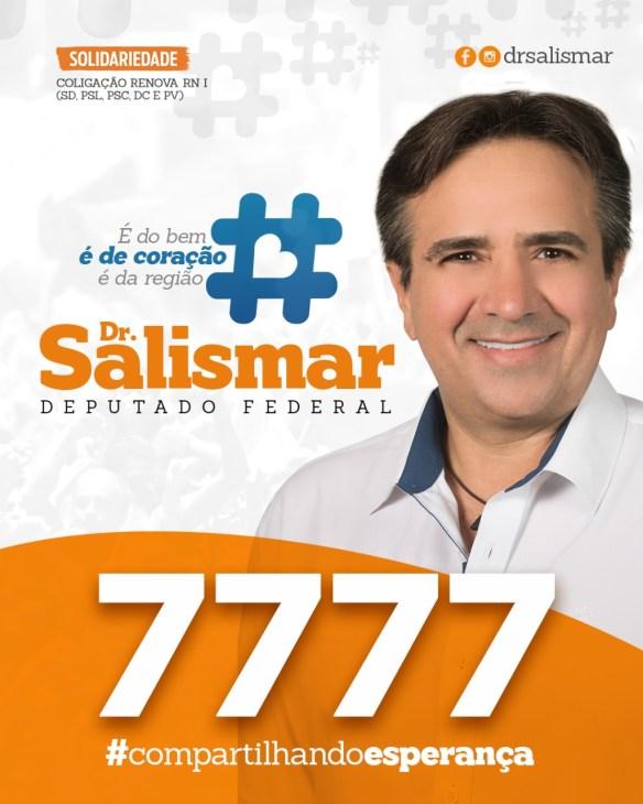 Dr Salismar foi o segundo mais votado do Solidariedade para deputado federal