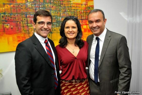 Fúlvio, Luciana do Solidariedade Mulher e o deputado Kelps