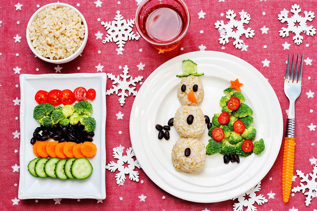 Plato de navidad saludable