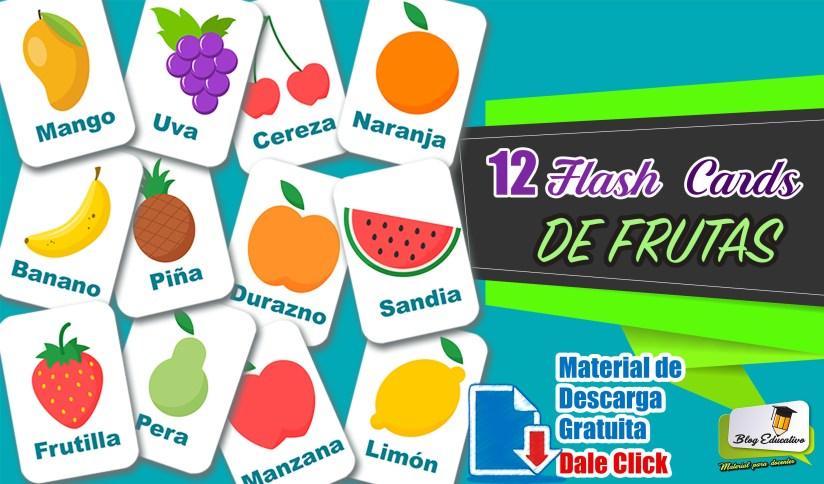 Flash Cards De Frutas para niños - Blog Educativo