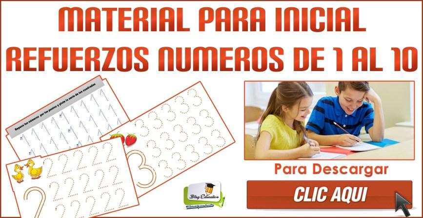Material para inicial - Refuerzos de números de 1 al 10