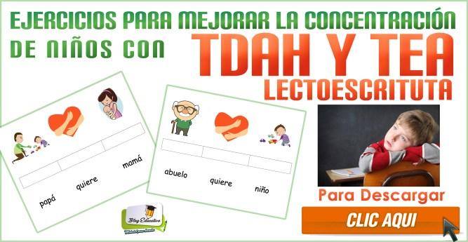 Ejercicios para mejorar la concentración de niños con TDAH y TEA