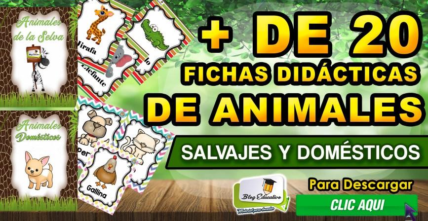 Fichas didácticas de Animales salvajes y domésticos