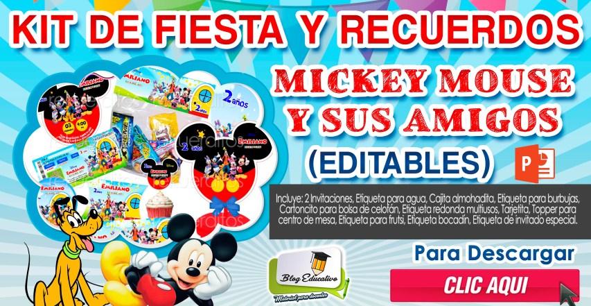 Kits de fiesta y recuerdos de Mickey Mouse y sus Amigos GRATIS